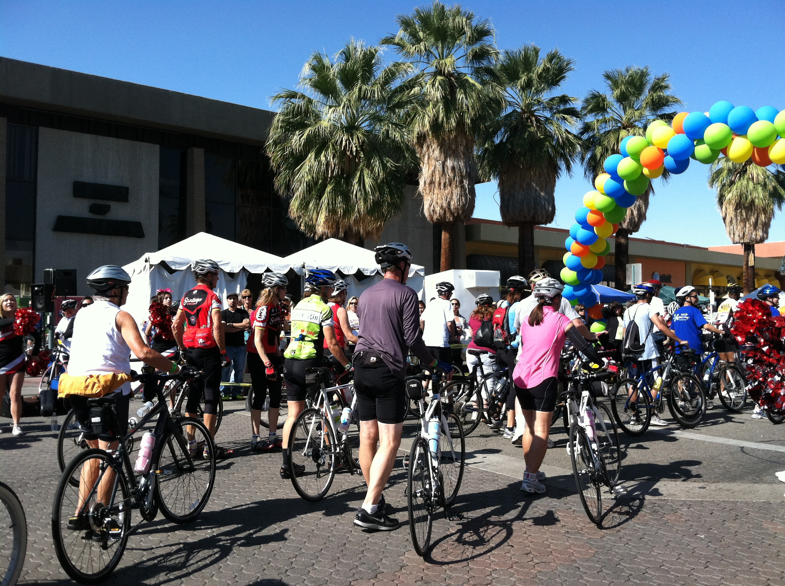 Tour de Palm Springs Walking Finish Line 2012