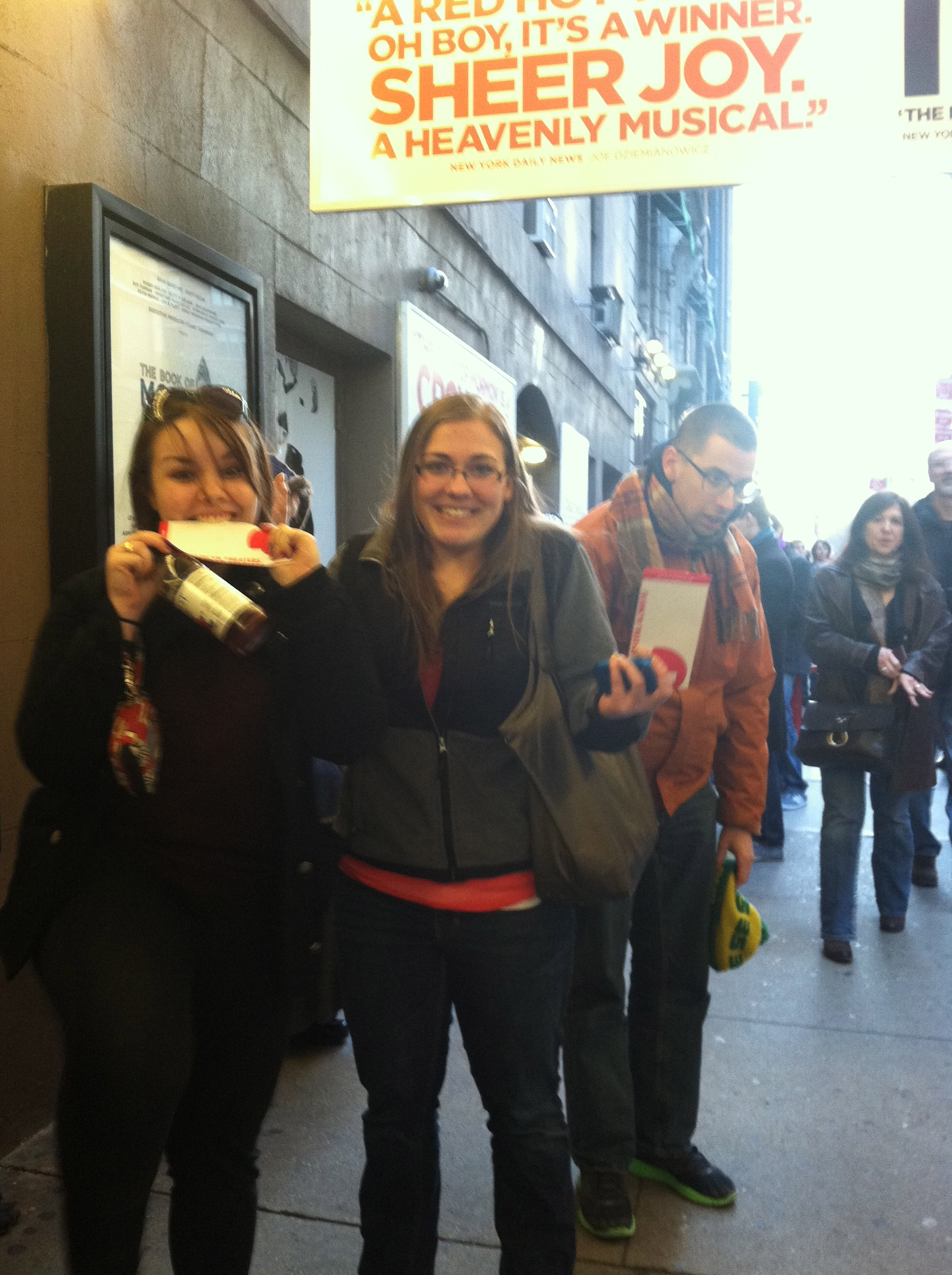 Kristin and Lauren, lottery winners for Book of Mormon tickets!