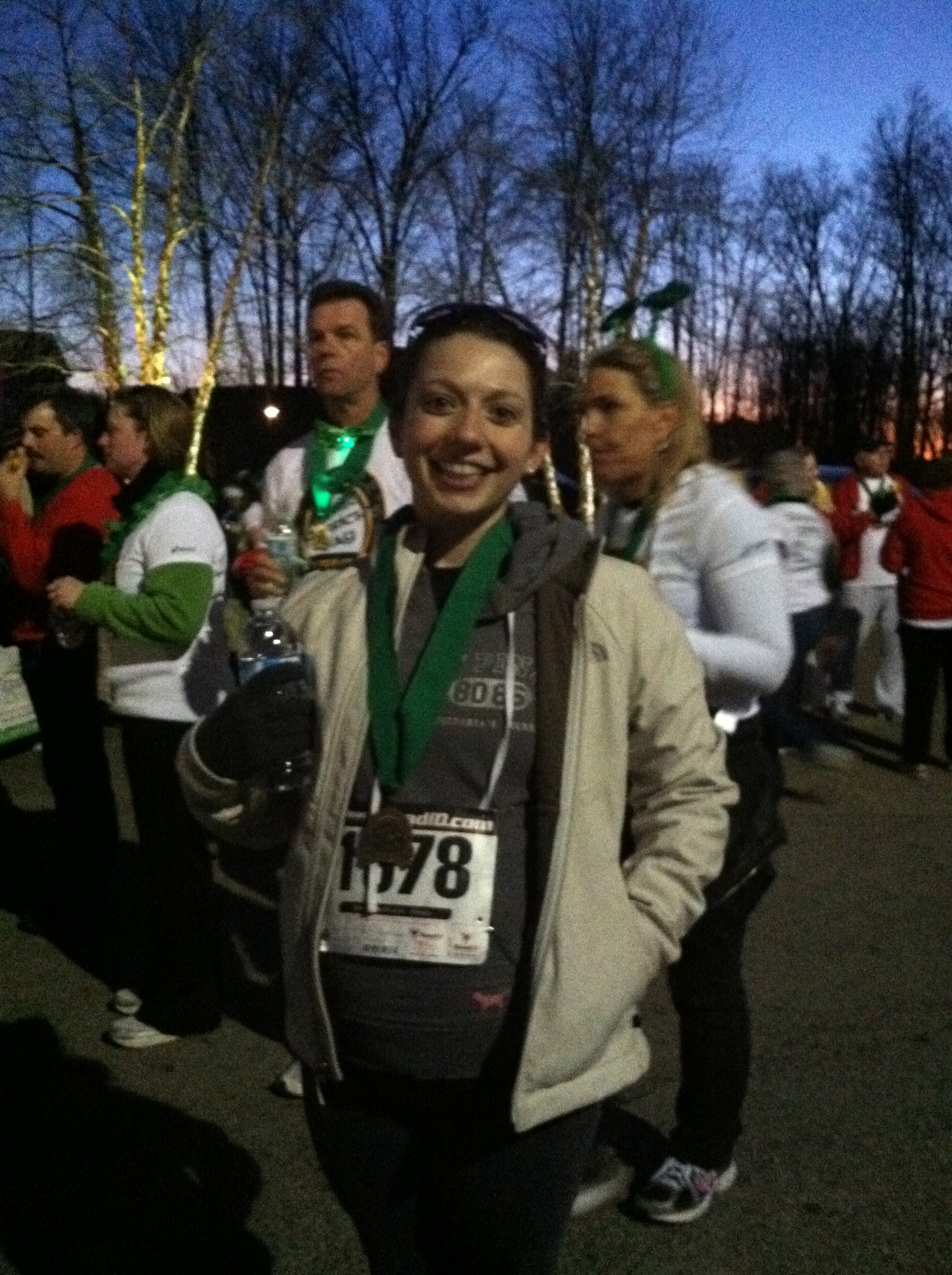 cute, pregnant Jaime after Kinsale 4 miler
