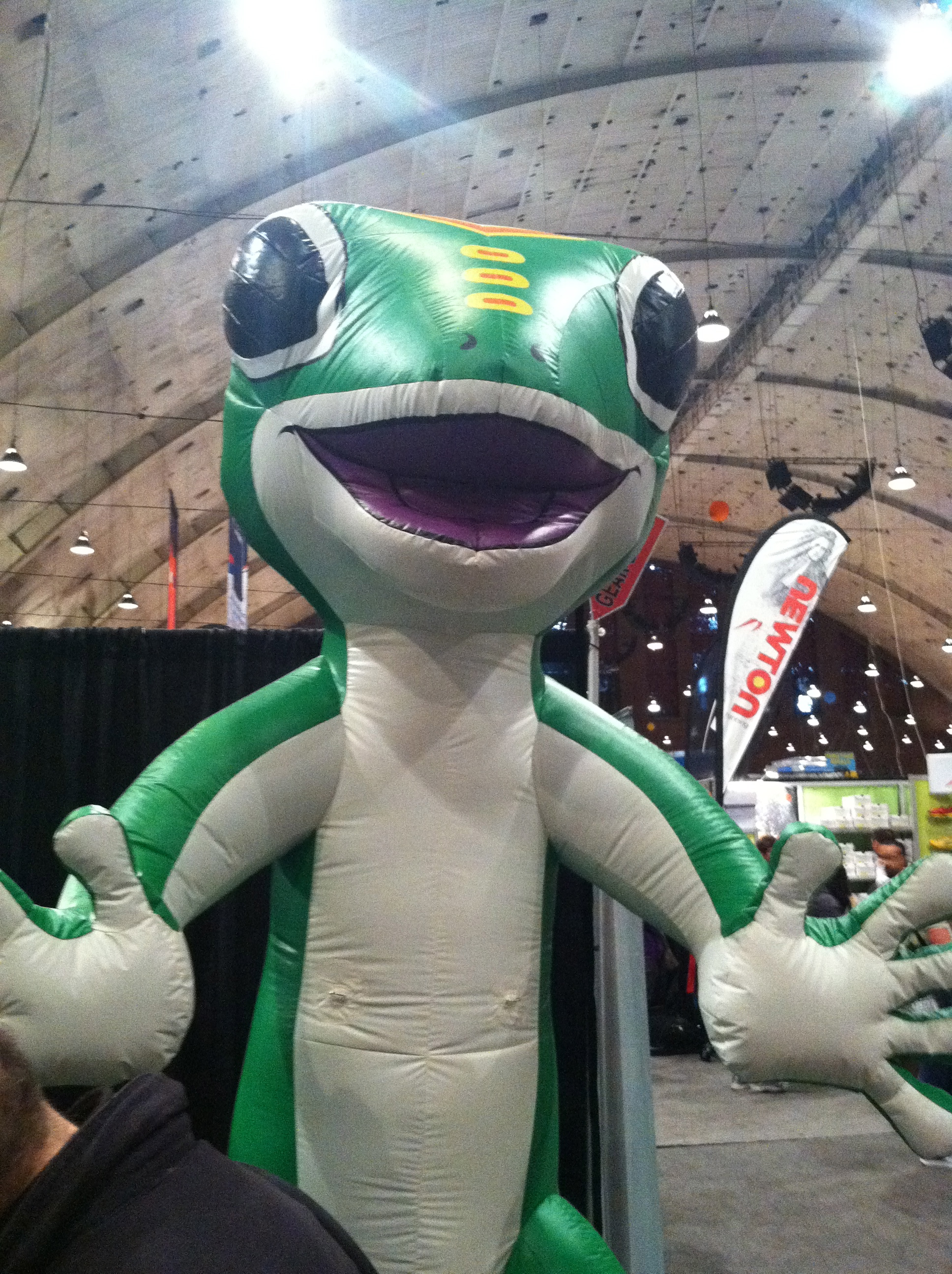 Geico booth at the Rock 'n' Roll USA Marathon Expo 2012