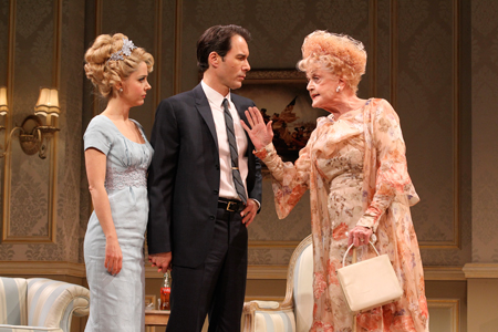 Eric McCormack, Kerry Butler, and Angela Lansbury in Gore Vidal's The Best Man on Broadway