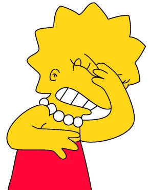 Lisa Simpson making her d'oh face (slapping forehead)