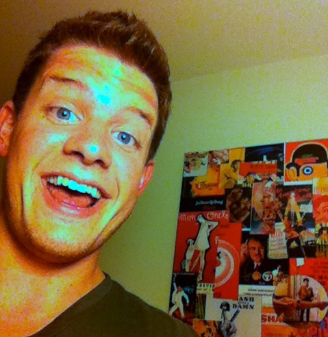 This is a photo of Aaron Fullerton that I took from twitter. This blog is about him!