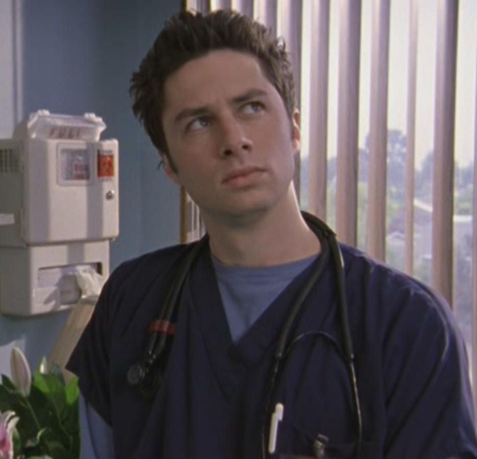JD on scrubs making fantasy face