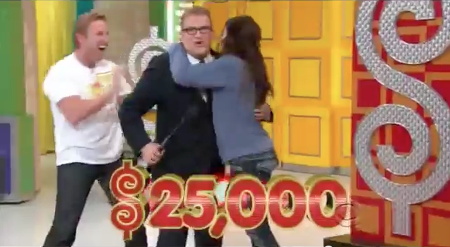 Lindsay Fonseca after winning 25,000 on The Price is Right