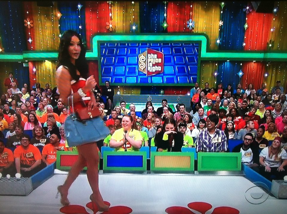 Aurora De Lucia beside herself in contestant's row on The Price is Right