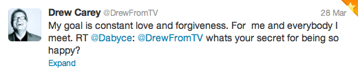 Drew Carey love tweet