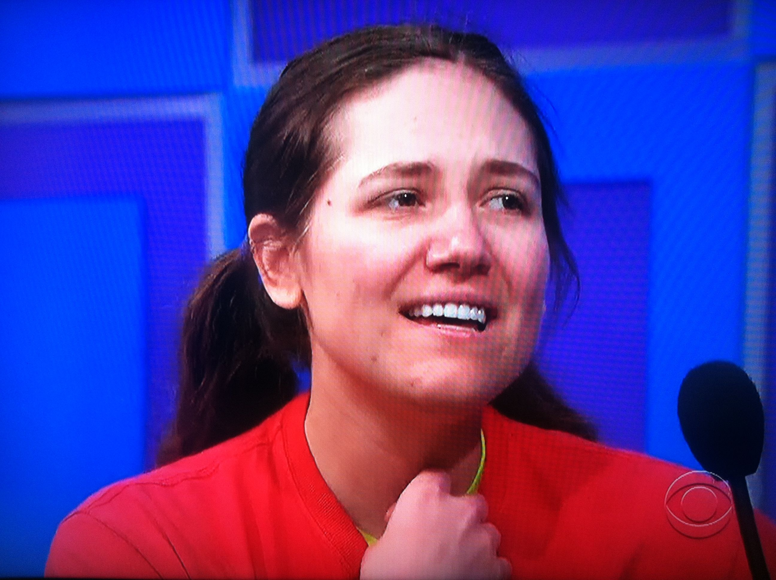 Aurora De Lucia looking quite nervous on The Price is Right