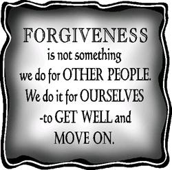 forgiveness is to move on