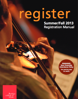 Berklee registration manual fall 2013