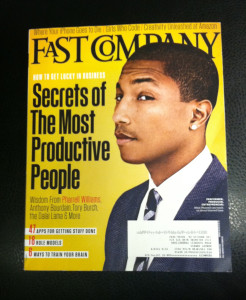 Pharrell Williams Fast Company cover