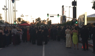 people waiting to get into the Creative Arts Emmys Governor's Ball 2014
