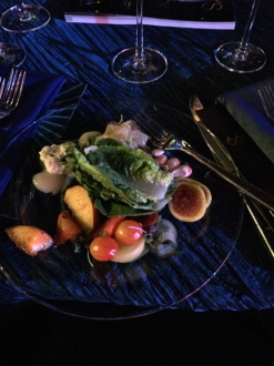 first course salad at the Creative Arts Emmys Governor's Ball 2014