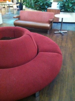 cool couch at OSU Medical Center