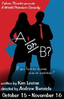 A or B at Falcon Theater playbill cover