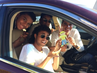 Flat Stanley and the Jacksons - Randy Jr., Donte, Jaafar, and Jermajesty