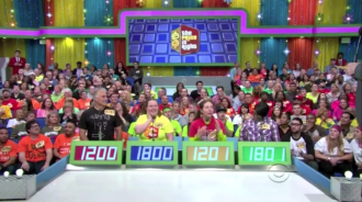 Aurora in contestants' row on The Price is Right