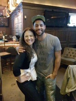 Trevor Penick posing with Aurora De Lucia at The Parlor