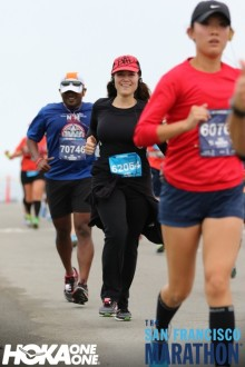 Aurora running in the San Francisco Half Marathon