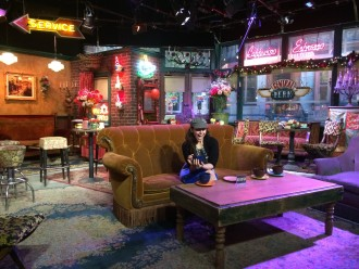 Aurora De Lucia on the set of Central Perk from Friends