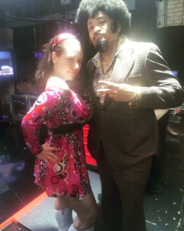 Larry Wilmore and Aurora De Lucia on '70s day