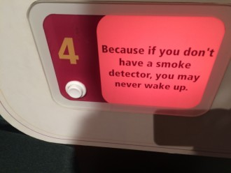 If you don't have a smoke detector you won't wake up