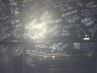 Wall of celeb signatures