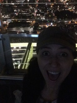 Aurora taking a selfie from the top of the Space Needle