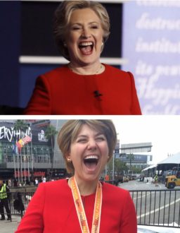 hillary-side-by-side-with-aurora-laughing